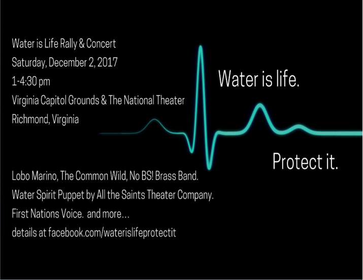 Water Is Life Rally Concert Potomac Riverkeeper Network
