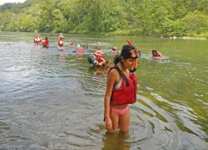 Latinos in the river