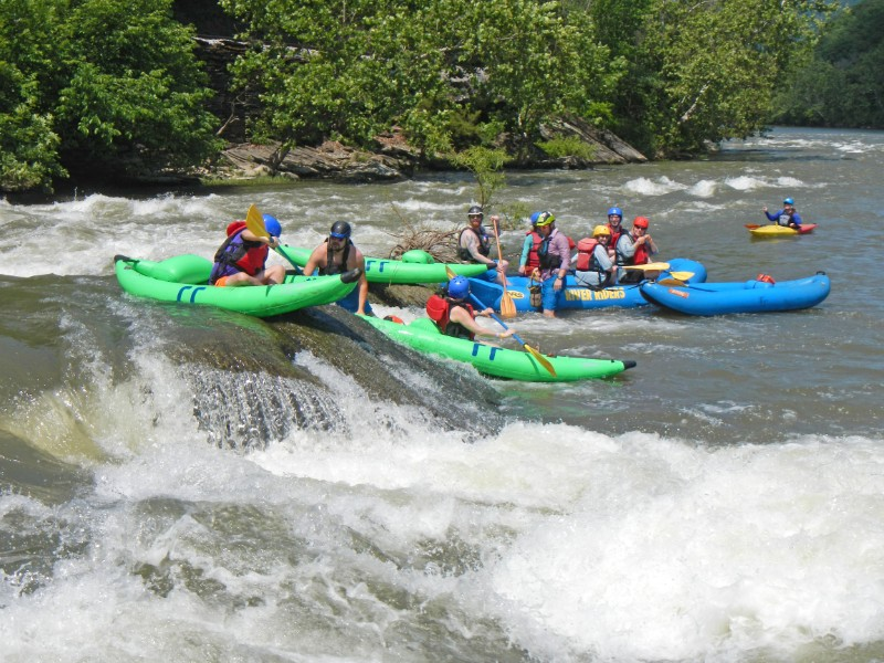 The Riverpalooza kickoff event includes a little bit of whitewater action.