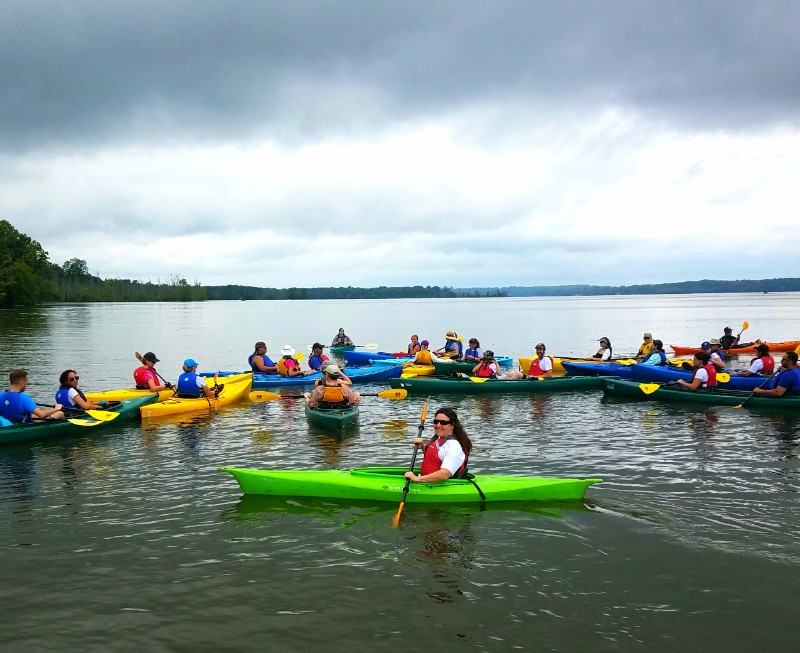 The Piscataway paddle involves a trip up the Boundary Channel of the Potomac.