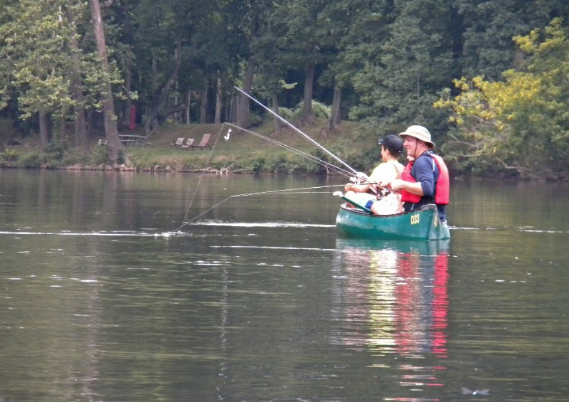 Fishing on the Shenandoah is a great way for families to spend time together.