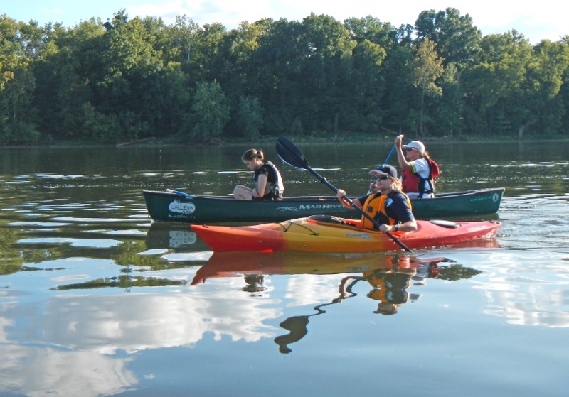 Women can choose to canoe or kayak for the WOW event.