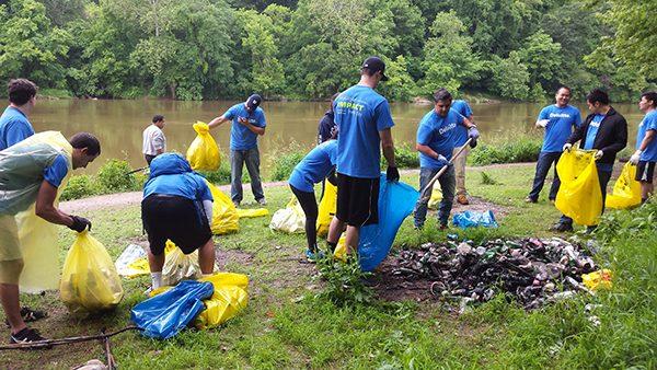 River Cleanup Volunteers