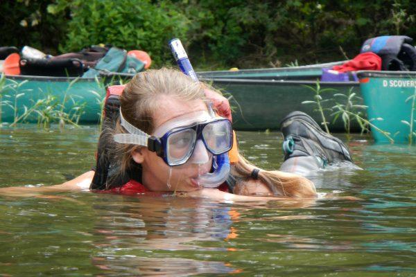 RiverPalooza - Snorkeling girl