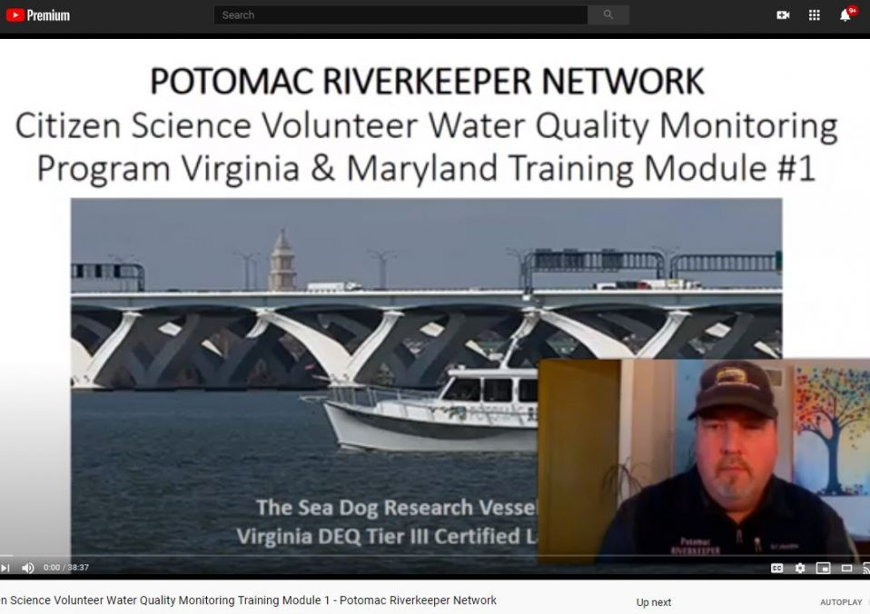 Citizen Science Water Quality Monitoring program screencap