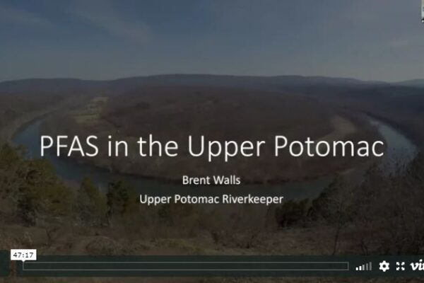 PFAS in the Upper Potomac screen capture