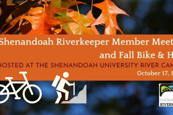 Shenandoah Riverkeeper Member Meeting and Fall Bike & Hike
