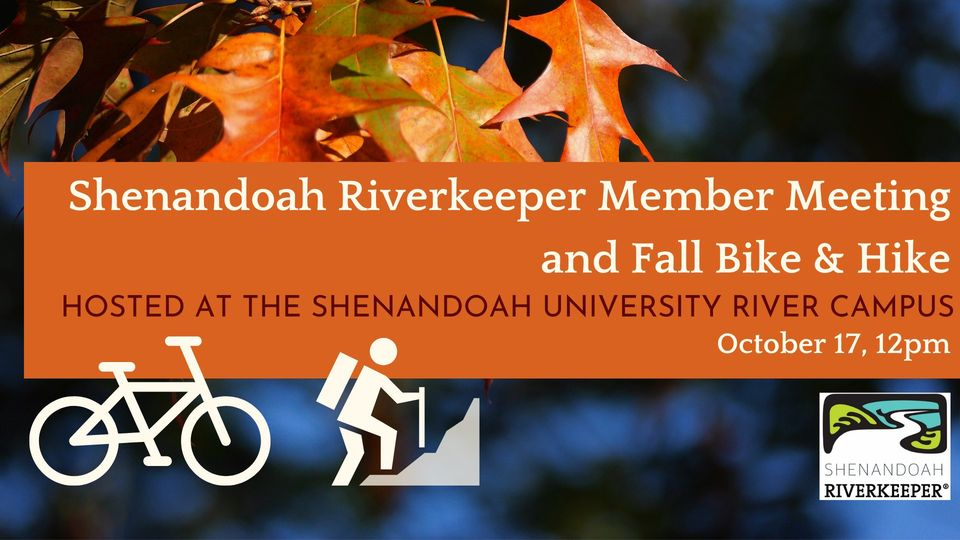 Shenandoah Riverkeeper Member Meeting and Fall Bike & Hike